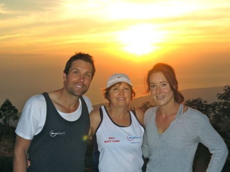 a fit family..Tim & Fi Hazell & fab mother Jeanette