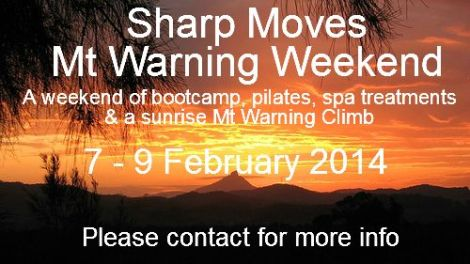 Sharp Moves is planning to capture the sunrise at Mt Warning