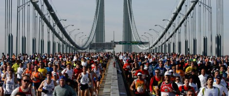 over 45,000 runners create an electric vibe