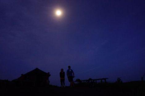 moonlight before the sunrise