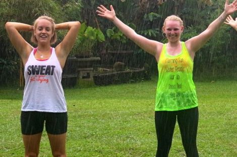 Rain after a sweaty Sharing Bali Bootcamp session... just washes the sweat and grime away