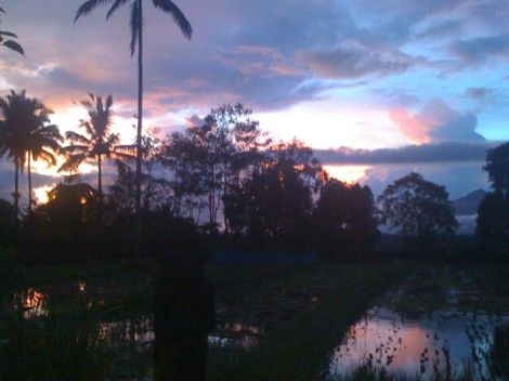 Beauty follows drama. Stunning sunsets.
