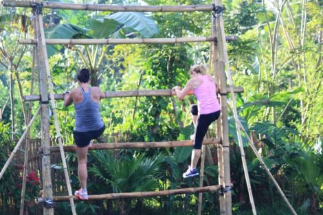 our bamboo gym works for us … simple, functional
