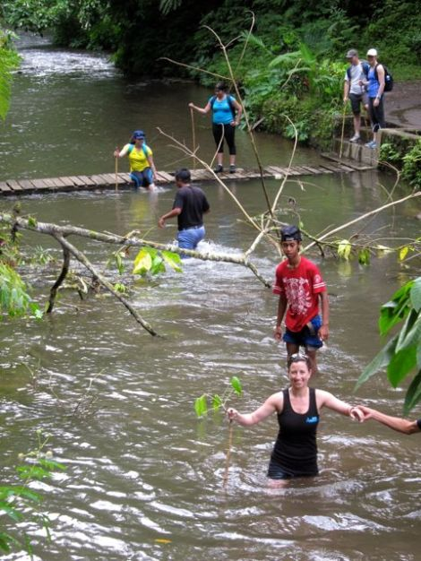 river crossing before the punishing steps out