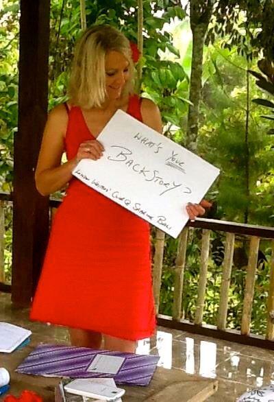Jacq Burns at work @ Sharing Bali